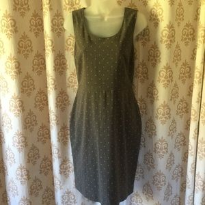 ELLE polka dot sheath dress sz 8